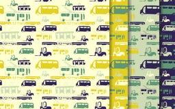 De reeks van het buspatroon Stock Foto's