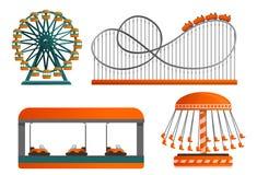 De reeks van het carrouselpictogram, beeldverhaalstijl royalty-vrije illustratie