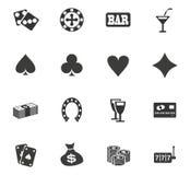 De Reeks van het casinopictogram Stock Afbeeldingen