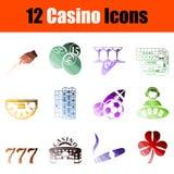 De Reeks van het casinopictogram vector illustratie