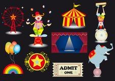 De reeks van het circus Stock Afbeelding
