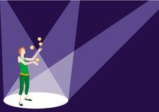 De reeks van het circus: juggler Stock Afbeeldingen
