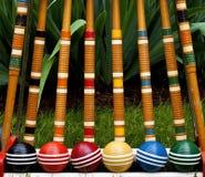 De reeks van het croquet Royalty-vrije Stock Fotografie