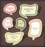 De reeks van het de bellenplakboek van de toespraak vector illustratie