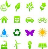 De reeks van het de elementenpictogram van het milieu Stock Fotografie