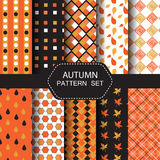 De reeks van het de herfstpatroon Stock Foto