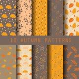 De reeks van het de herfstpatroon stock illustratie