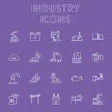 De Reeks van het de industriepictogram Stock Afbeelding