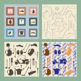 De reeks van het de puntenpictogram van de golfsport Bestuurder, hout, ijzer Stock Afbeeldingen
