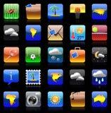 De reeks van het de vakantiepictogram van Iphone Stock Afbeeldingen