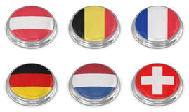 De reeks van het de vlagpictogram van de natie Royalty-vrije Stock Fotografie