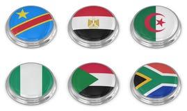 De reeks van het de vlagpictogram van de natie Stock Foto's