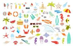 De reeks van het de zomermateriaal vector illustratie