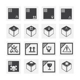 De reeks van het doospictogram Stock Afbeeldingen