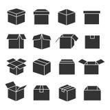 De reeks van het doossilhouet Royalty-vrije Stock Afbeelding