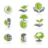 De reeks van het ecologiepictogram. Vector Royalty-vrije Stock Foto's