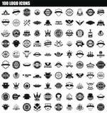 de reeks van het 100 embleempictogram, eenvoudige stijl vector illustratie