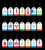 De reeks van het etiket Stock Afbeelding