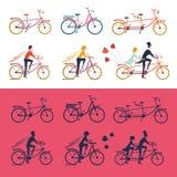 De reeks van het fietsenpictogram royalty-vrije illustratie