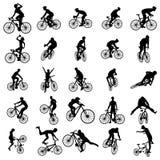 De reeks van het fietssilhouet Royalty-vrije Stock Afbeeldingen