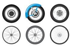 De reeks van het fietswiel stock illustratie