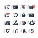 De reeks van het financiënpictogram, bedrijfslening, het rapport van de bedrijfopbrengst, infographic analytics, de marktgroei, j stock illustratie