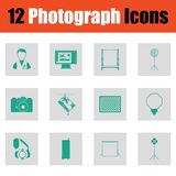 De reeks van het fotografiepictogram Stock Fotografie