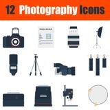 De reeks van het fotografiepictogram Stock Afbeeldingen
