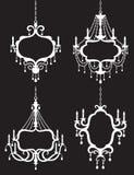 De Reeks van het Frame van de kroonluchter Royalty-vrije Stock Afbeeldingen