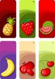 De reeks van het fruit Stock Afbeelding