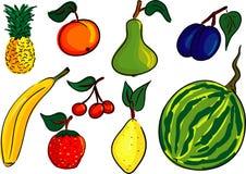 De reeks van het fruit Royalty-vrije Stock Afbeelding