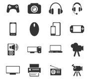 De reeks van het gadgetpictogram Stock Foto