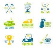 De reeks van het golfetiket Stock Fotografie