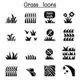 De reeks van het graspictogram stock illustratie