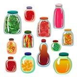 De reeks van het groenten in het zuurpictogram Stock Foto
