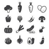 De reeks van het groentenpictogram Stock Afbeelding