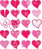 De reeks van het hart Royalty-vrije Stock Fotografie