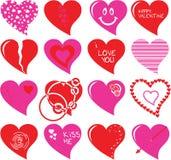 De reeks van het hart Royalty-vrije Stock Foto