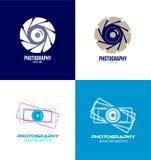 De reeks van het het embleempictogram van de fotografiecamera Royalty-vrije Stock Foto's