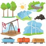 De Reeks van het het Ontwerpconcept van de Ecoenergie stock illustratie