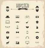 De reeks van het Hipsterpictogram Stock Afbeeldingen