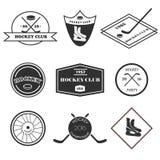 De reeks van het hockeyembleem vector illustratie