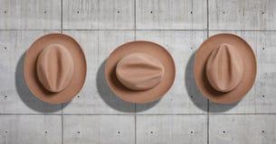 De reeks van het hoedenmodel Royalty-vrije Stock Foto