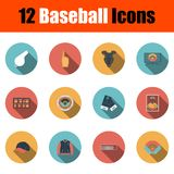 De reeks van het honkbalpictogram vector illustratie