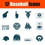 De reeks van het honkbalpictogram royalty-vrije illustratie