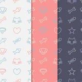 De reeks van het huisdierenpatroon Vector Illustratie