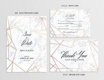 De reeks van het huwelijk Kaartenmalplaatje van geometrisch ontwerp stock illustratie