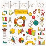 De Reeks van het Infographicelement Stock Afbeeldingen