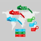 De reeks van het Infographicsteken Royalty-vrije Stock Afbeelding