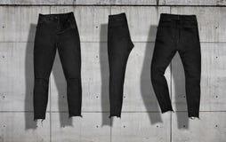 De reeks van het jeansmodel Royalty-vrije Stock Foto's